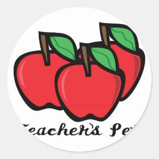 El mascota del profesor pegatina redonda