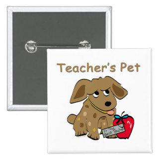 El mascota del profesor pin cuadrado