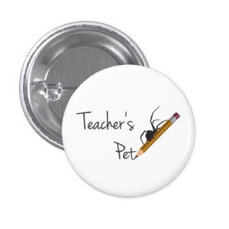 El mascota del profesor pin redondo de 1 pulgada