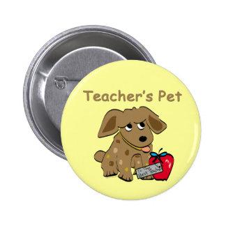 El mascota del profesor pin redondo de 2 pulgadas
