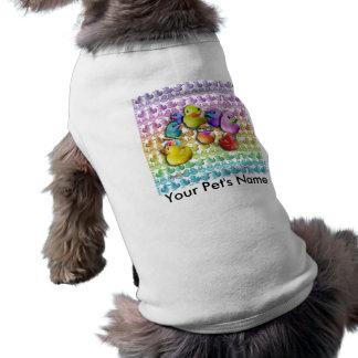 El mascota junta con te el arte pop de goma de Duc Playera Sin Mangas Para Perro