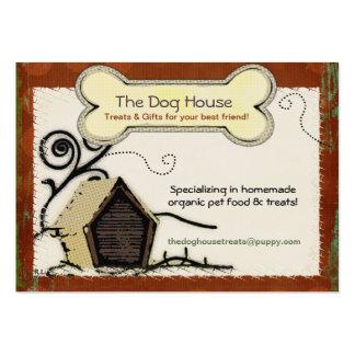 El MASCOTA ORGÁNICO de la casa de perro TRATA la C Tarjeta Personal