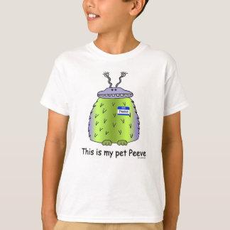 El mascota Peeve la camiseta