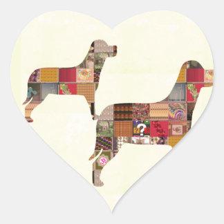 El mascota pintado de los regalos de los PERROS Pegatina Corazón