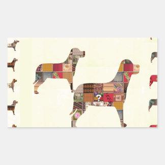 El mascota pintado de los regalos de los PERROS Rectangular Altavoces