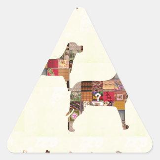 El mascota pintado de los regalos de los PERROS Calcomania De Trianguladas