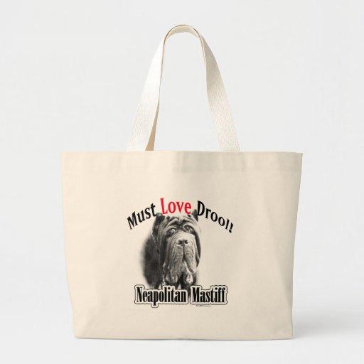 El mastín napolitano debe amar el Drool Bolsa