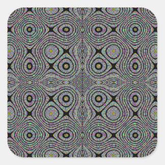 El Matemáticas-ARTE búho observa a los pegatinas