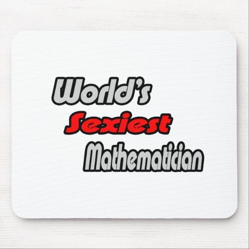 El matemático más atractivo del mundo tapetes de ratón