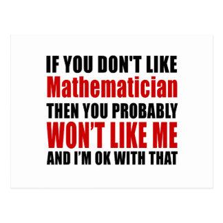 El matemático no tiene gusto de diseños tarjetas postales