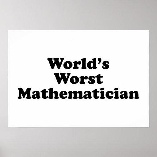 El matemático peor del mundo posters