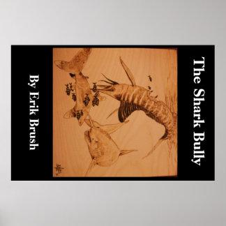 El matón del tiburón, grande póster