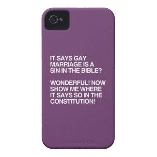 EL MATRIMONIO HOMOSEXUAL ES UN PECADO EN LA BIBLIA iPhone 4 Case-Mate COBERTURA