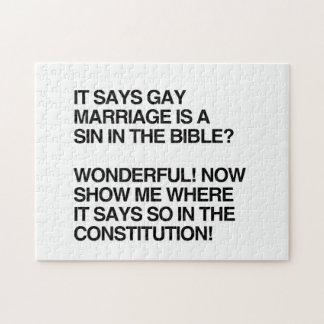 EL MATRIMONIO HOMOSEXUAL ES UN PECADO EN LA BIBLIA PUZZLES