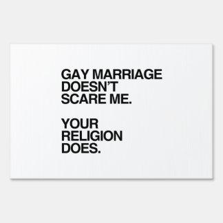 EL MATRIMONIO HOMOSEXUAL NO ME ASUSTA CARTELES