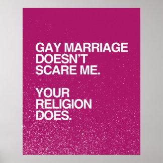 EL MATRIMONIO HOMOSEXUAL NO ME ASUSTA - .PNG POSTERS