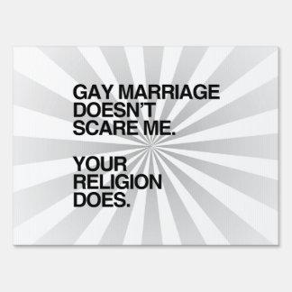 EL MATRIMONIO HOMOSEXUAL NO ME ASUSTA SEÑAL