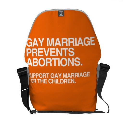 EL MATRIMONIO HOMOSEXUAL PREVIENE EL ABORTO - .PNG BOLSA DE MENSAJERÍA