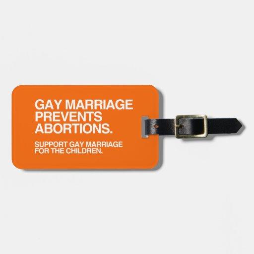 EL MATRIMONIO HOMOSEXUAL PREVIENE EL ABORTO - .PNG ETIQUETA PARA EQUIPAJE