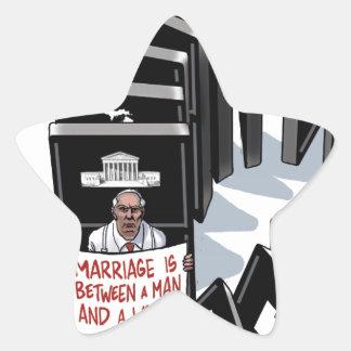 El matrimonio homosexual será legal, él es pegatina en forma de estrella