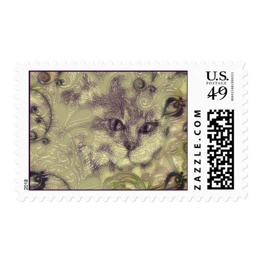 el maullido de los gatos timbre postal