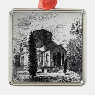 El mausoleo real, Frogmore Adorno Navideño Cuadrado De Metal
