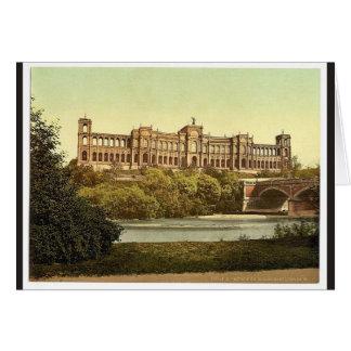 El Maximilianeum, vintag de Munich, Baviera, Alema Felicitación