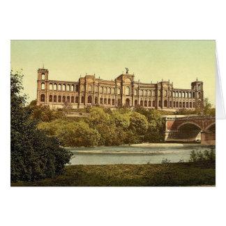 El Maximilianeum, vintag de Munich, Baviera, Alema Tarjeton