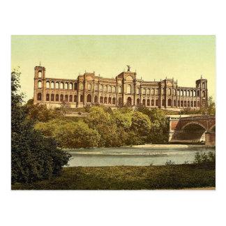 El Maximilianeum, vintag de Munich, Baviera, Alema Tarjeta Postal
