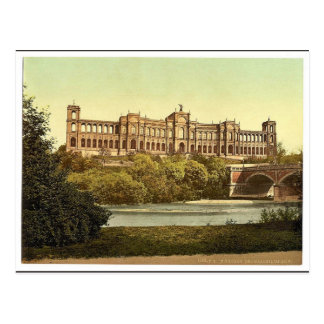 El Maximilianeum, vintag de Munich, Baviera, Alema Postales