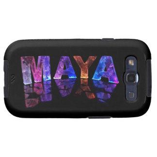 El maya conocido en 3D se enciende la fotografía Galaxy SIII Protector