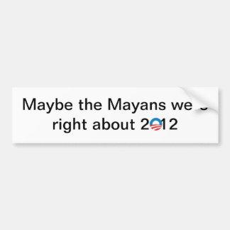 El Mayans correcto Pegatina De Parachoque
