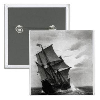 El Mayflower Pin Cuadrada 5 Cm
