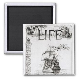El Mayflower portada de Life Iman Para Frigorífico