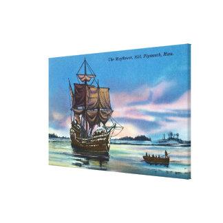 El Mayflower que aterriza en 1620 escena Impresiones De Lienzo