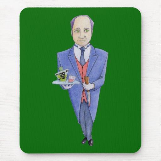El mayordomo Mousepad Tapete De Raton