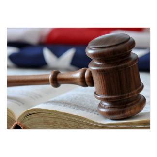 El mazo del juez - plantilla legal de la tarjeta d tarjetas de visita grandes