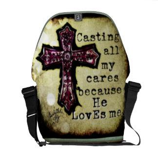 Él me ama la bolsa de mensajero cruzada bolsas de mensajería