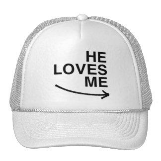 Él me ama .png (derecho) gorras de camionero