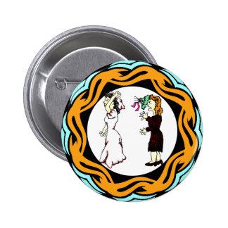 Él me casó botón pin redondo de 2 pulgadas