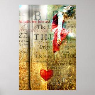 Él me llama querido (el arte cristiano contemporán póster