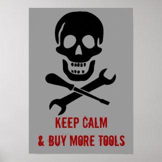 El mecánico del cráneo del pirata guarda calma y c póster