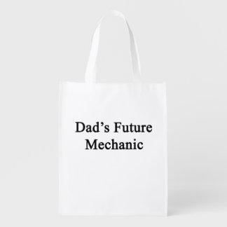 El mecánico futuro del papá bolsa para la compra
