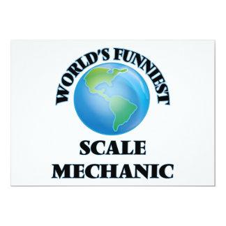 El mecánico más divertido de la escala del mundo invitación 12,7 x 17,8 cm