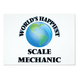 El mecánico más feliz de la escala del mundo invitación 12,7 x 17,8 cm