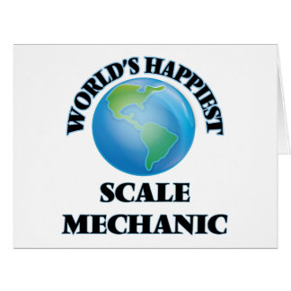 El mecánico más feliz de la escala del mundo tarjeta de felicitación grande