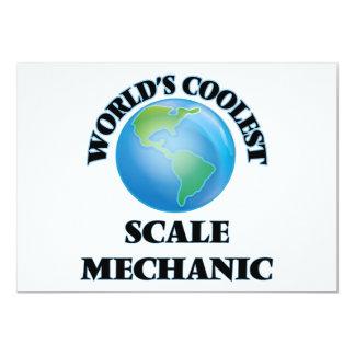 El mecánico más fresco de la escala del mundo invitación 12,7 x 17,8 cm