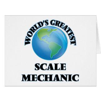 El mecánico más grande de la escala del mundo felicitaciones