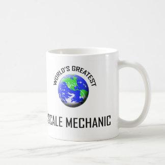 El mecánico más grande de la escala del mundo taza de café
