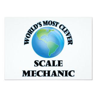 El mecánico más listo de la escala del mundo invitación 12,7 x 17,8 cm